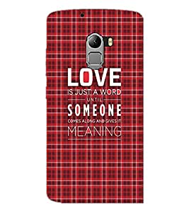 PrintDhaba Quote D-3499 Back Case Cover for LENOVO VIBE X3 c78 (Multi-Coloured)