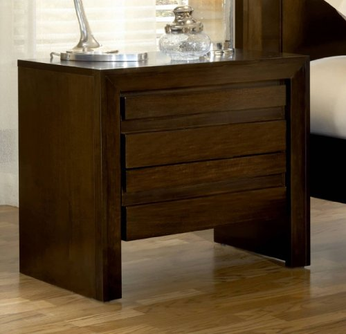 Modus Furniture International Element Charging Station Nightstand, Chocolate Brown front-708488