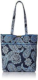 Vera Bradley Tote Shoulder Bag, Blue Bandana, One Size