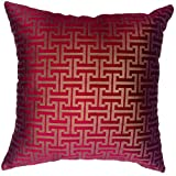 "That's Perfect! Bronze Roman Pattern Decorative Throw Pillow Sham - Fits 18"" x 18"" Insert (Red and Bronze)"