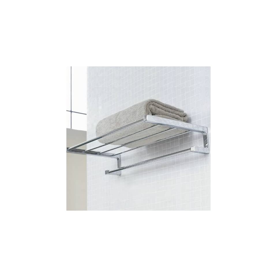 WS Bath Collections Metric 38.51.10002 Polished Chrome Metric Towel Rack Metric 38.51.10