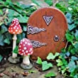 Fairy Garden Starter Kit Set Of Two Mushrooms & Fairy Door