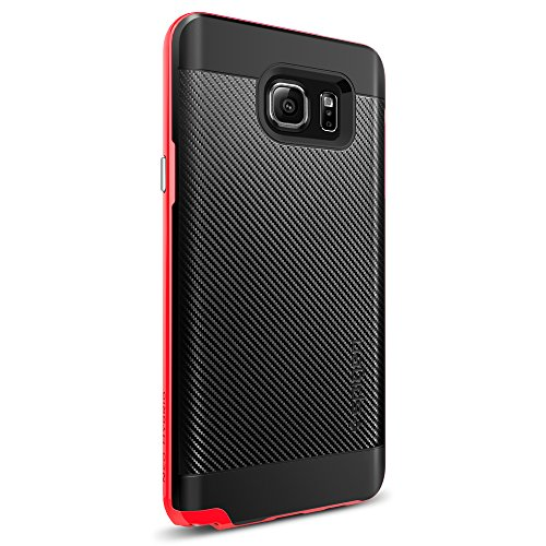 Spigen Neo Hybrid Carbon Galaxy Note 5 Case with Carbon Fiber Design and Reinforced Hard Bumper Frame for Galaxy Note 5 2015 - Dante Red (Note 3 Case Spigen compare prices)