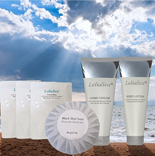 6 in 1 Spa Gift Basket by LeliaSea Dead Sea Minerals • LIMITED TIME SALE • World Renown Luxury Hand Cream, Body Lotion, Facial Mask and Mud Soap • Great Gifts for Women or Men