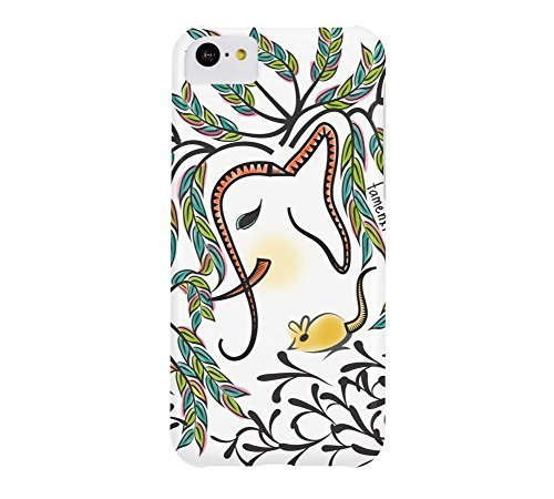 Vibrant Jungle Ele iPhone 5c White Barely There Phone Case - Design By Humans
