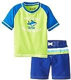 iXtreme Baby Boys Infant Shark Dude Rashguard Swim Top Swim Trunk Set