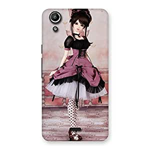 Stylish Cute Dancing Girl Multicolor Back Case Cover for Micromax Canvas Selfie Lens Q345