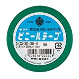 ヤマト ビニールテープ 38mm幅 NO200-38-4-5PR 緑 5巻