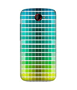 Colour Chips Printed Back Cover Case For HTC One S
