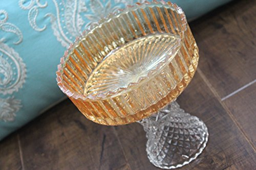 Fancy Carnival Glass Pet Bowl Crystal Carnival Glass