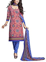 VARSHA Women's Synthetic Unstitched Dress Material (Multicolor)