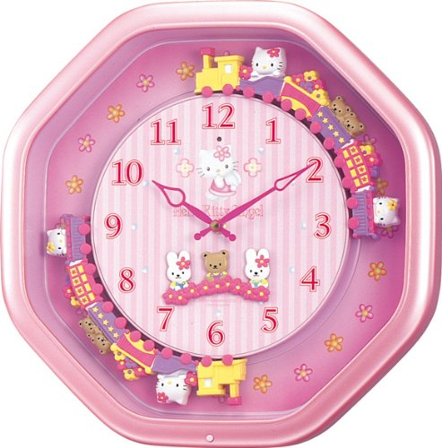 【Hello Kitty】Wall colock Kitty(kitty moves around on the train)M766B 4MH766MB13
