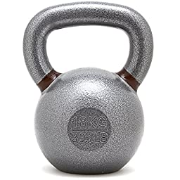 New Onefitwonder Solid Cast Iron Kettlebell Weight for Fitness Crossfit Training Strength Training Gym Exercise Superior Grip 18 Kg / 39 Lb
