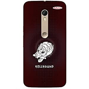 HELLHOUND - Mobile Back Case Cover For Motorola Moto X Play