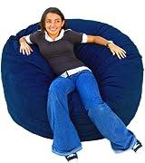 Cozy Sack 4-Feet Bean Bag Chair, Large, Navy