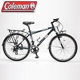 Coleman(コールマン) CAMPER2618F コールマン 26インチ アルミ Fサス 18段 自転車 ダークグリーン