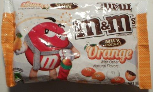 M&M's Orange Flavored Milk Chocolates, 9.9 Oz Bag 2 pack
