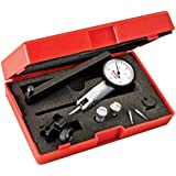 Starrett Dial Test Indicator with Dovetail Mount and 4 Attachments 2 Extra Contacts, White Dial