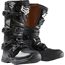 Fox Racing Comp 3 Youth Boys MX/Off-Road/Dirt Bike Motorcycle Boots - Black / Size 8