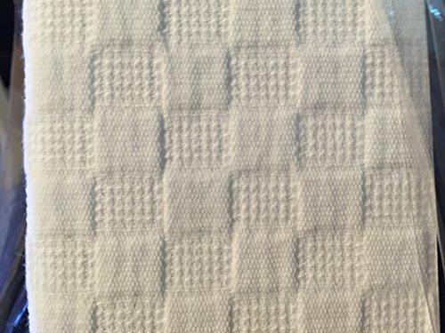 Hotel Balfour Premium Quality Fabric Shower Curtain White Checkered Waffle Pattern 100 Cotton 72 X