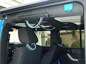Amazon.com: Paracord Grab Handles for Jeep JK - Everyone Hold On Set