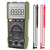 Digital Multimeter,DC AC Voltage Current Capacitance Resistance NCV Square-wave Output True RMS Diode Tester of 6000 count,Borbede 168A Mini Portable
