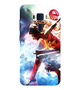 Evaluze cute girl Printed Back Cover for ASUS ZENFONE 3