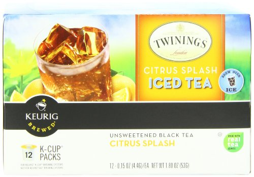 Twinings Iced Tea K-Cups, Citrus Splash,  12 Count 0.15 Oz.