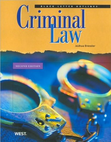 Black Letter Outline on Criminal Law (text only) 2nd(Second) edition by J. Dressler