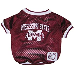 Mississippi State Red Bulldogs Dog Jersey for Small Dogs by Pets First