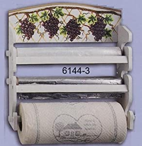 Amazon.com - 3-In-1 Wrap and Paper Towel Holder--Grapes Country