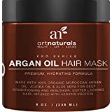 Art Naturals Argan Oil Hair Mask, Deep Conditioner 8 Oz, 100% Organic Jojoba Oil, Aloe Vera & Keratin, Repair...
