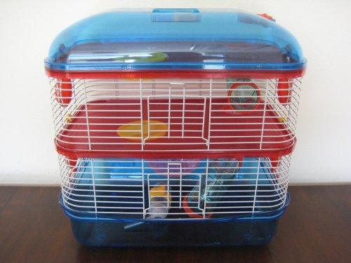 3 Level Cage with Solid Floors - Mixed Translucent Color