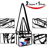 Clear Bag - 12 X 12 X 6 - NFL and PGA Stadium Approved - Clear Tote Bag - Heavy Duty - Shoulder Straps and Zippered Top and Inside