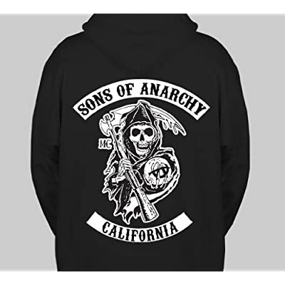 sons of anarchy california hoodie size. Black Bedroom Furniture Sets. Home Design Ideas