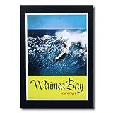 ハワイアンポスター サーフィンシリーズ N-3 「Waimea Bay」 サイズ:30×21.5cm
