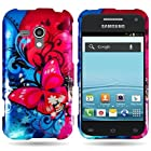 CoverON® Hard Snap On Case for Samsung Galaxy Rush - Slim Butterfly Bliss Design Cover