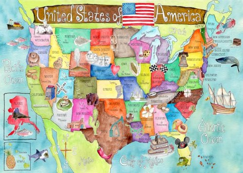 Maps Shower Curtains Shower Curtains Outlet - Artistic map of us