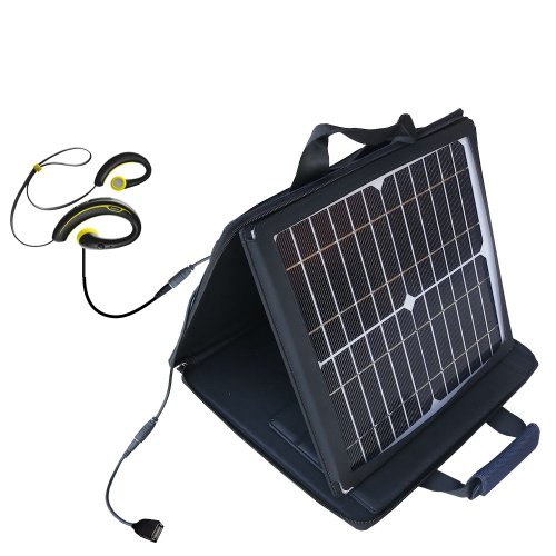 Gomadic Sunvolt High Output Portable Solar Power Station Designed For The Jabra Sport Wireless Plus - Can Charge Multiple Devices With Outlet Speeds
