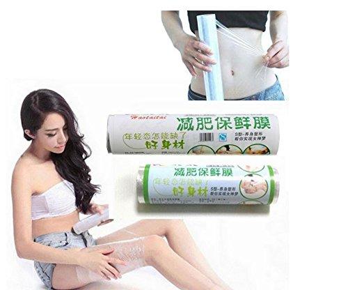 Size: 01#: 15cm x 20m, PE Shrinking Waist Thigh Leg Wrap Film Heat Fat Burning Loss Weight Body Slimming by GokuStore