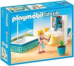Playmobil - A1502743 - Jeu De Construction - Salle De Bain Avec Baignoire