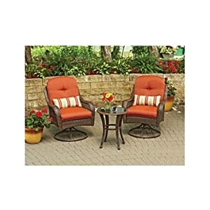 3 piece outdoor bistro set is perfect for for Small patio furniture for small spaces