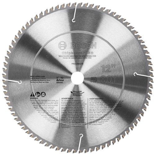Bosch PRO1280CHB 12-Inch 80T Chipboard/Osb/Plastic Precision Series Saw Blade (Bosch Radial Arm Saw compare prices)