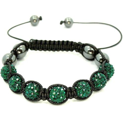 Emerald Green Swarovski Crystal & Hematite Stones