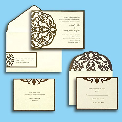 Gartner studios brides diy wedding invitation kit in brown for Gartner labels templates