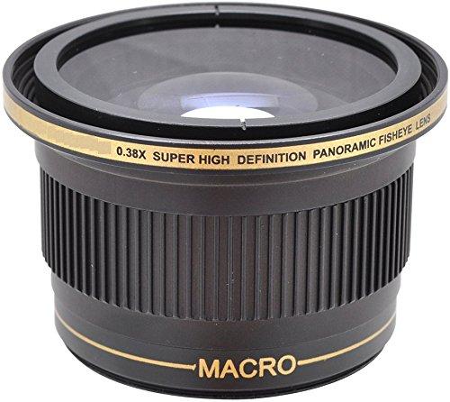 0.38x Fish-Eye WEITWINKEL VORSATZKONVERTER Objektive mit MAKROLINSE (für 58mm, 52mm, Anschlussgewinde) für Nikon 3000, D3100, D3200, D3300, D5000, D5100, D5200, D5300, D5500, D7000, D7100, DF, D3, D3S, D3X, D4, D40, D40x, D50, D60, D70, D70s, D80, D90, D100, D200, D300, D600, D610, D700, D750, D800, D800E, D810 SLR-Digitalkamera