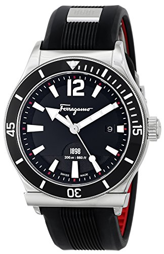 Salvatore Ferragamo Men'S Ff3100014 Ferragamo 1898 Sport Analog Display Quartz Black Watch