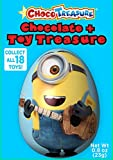 Minions Choco Treasure Chocolate Eggs with Toy Surprise!, Box 12 Count, 0.8oz
