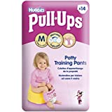 Huggies Pull Ups Potty Training Pants for Girls - Medium (11-18 kg), 14 x 6 Packs (84 Pants)