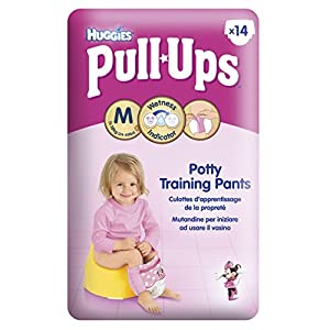 Huggies Pull-Ups Disney Princess Design Nappies - Size 5/Medium (11-18 kg /24-40 lbs), 6 x Packs of 14 (84 Pants)